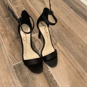 Jessica Simpson Black Ankle Strap Heels